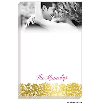 Brilliant Posh Gold Photo Notepad
