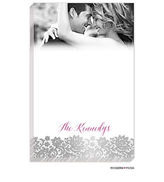 Brilliant Posh Silver Photo Notepad