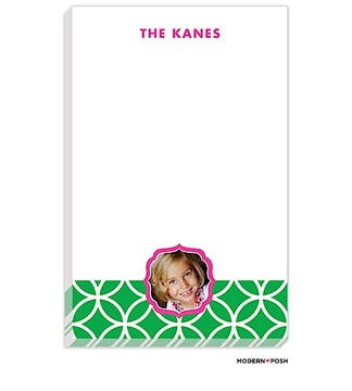 Lattice Posh Green Photo Notepad
