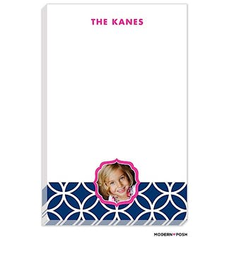 Lattice Posh Navy Photo Notepad