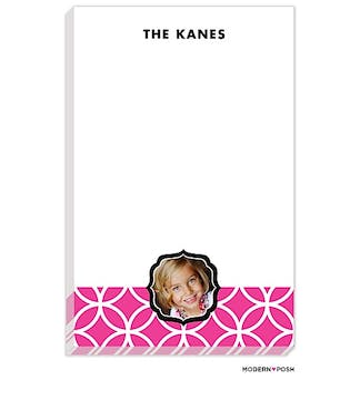 Lattice Posh Pink Photo Notepad