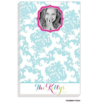 Blue Patterned Posh Photo Notepad