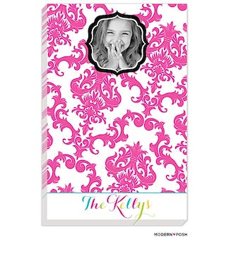 Pink Patterned Posh Photo Notepad