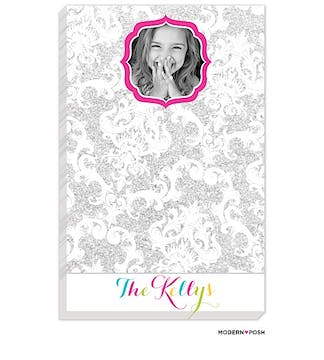Silver Patterned Posh Photo Notepad