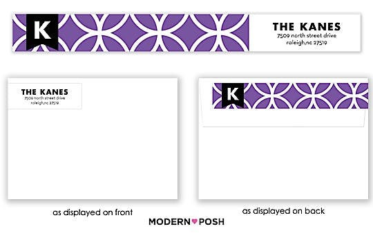 Lattice Posh Lilac Wrap-Around Return Address Label