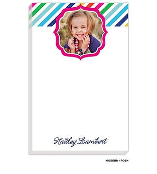Rainbow Posh Navy Photo Notepad