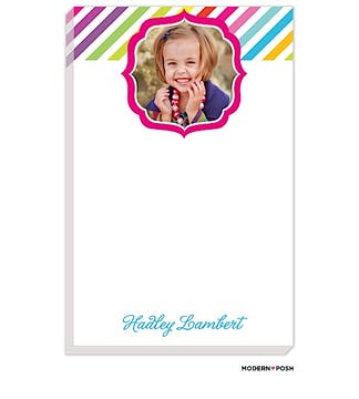 Rainbow Posh Pink Photo Notepad