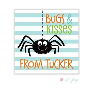 Bugs and Kisses Halloween Boy Gift Sticker