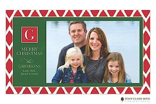 Christmas Ikat Print & Apply Holiday Flat Photo Card