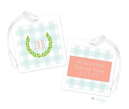 Monogram Wreath Luggage Tag