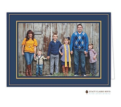Holiday Elegance - Navy Print & Apply Folded Photo Card