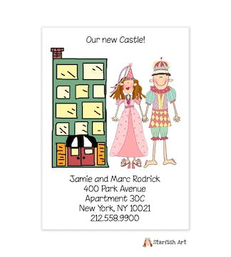 Personalized Character Vertical City Moving Card