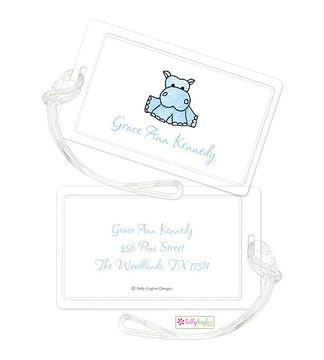 Blue Hippo ID Tag