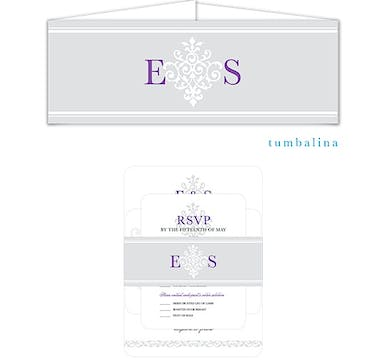 Damask Monogram Belly Band