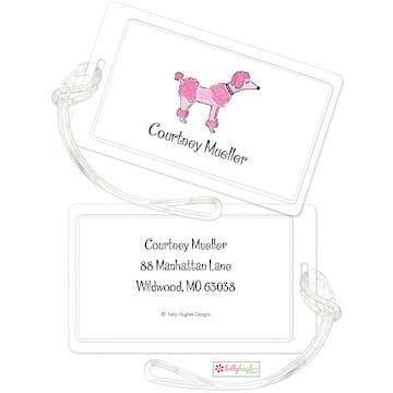 Pink Poodle ID Tag