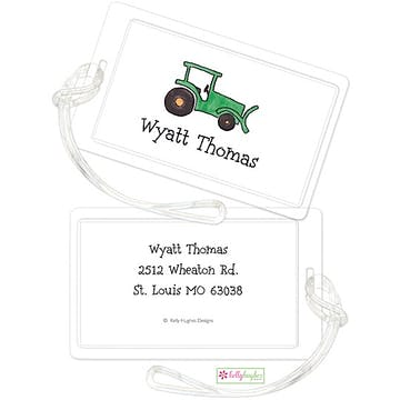 Green Tractor ID Tag