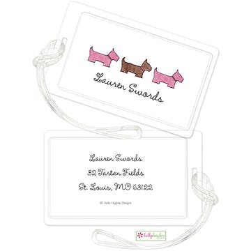 Preppy Pups In Pink ID Tag
