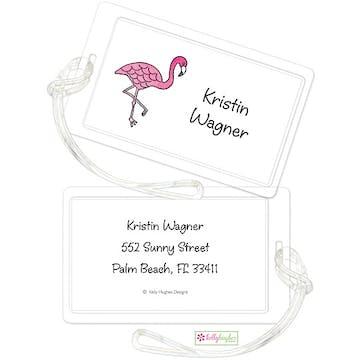 Pink Flamingo ID Tag