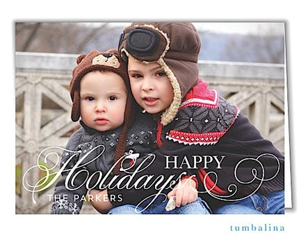 Holiday Flourish Holiday Folded Photo Card
