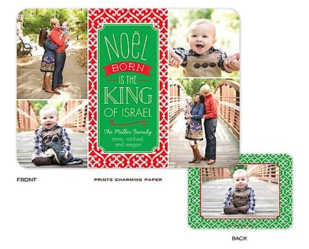 Noel Collage Holiday Flat Photo Card
