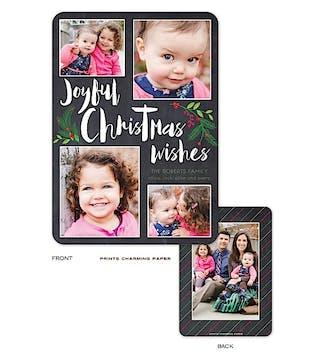 Joyful Collage Holiday Flat Photo Card