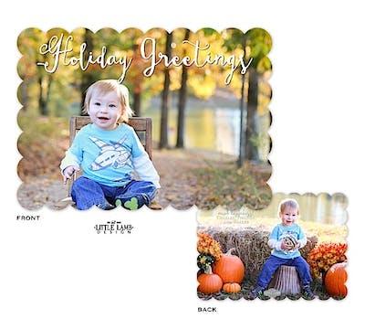 Holiday Greetings Holiday Flat Photo Card