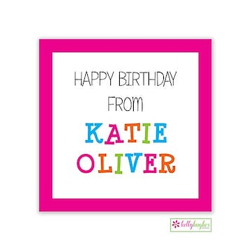 Funky Pink Letters Calling Card