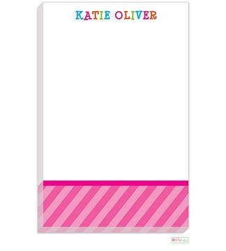 Funky Pink Letters Notepad