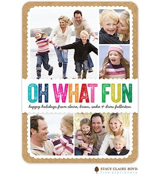 Colorful Fun Holiday Flat Photo Card