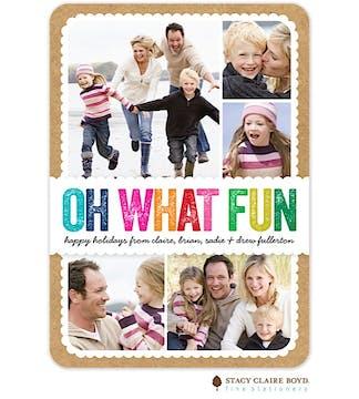 Colorful Fun Holiday Flat Photo Card