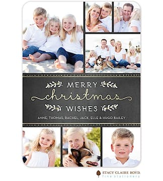 Shimmering Christmas Holiday Flat Photo Card