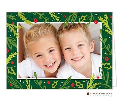 Joyful Boughs Holiday Folded Photo Card