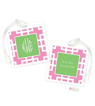 Squared Pink ID Tag