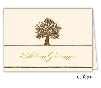 Oak Tree Folded Place Card
