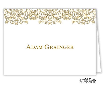 Lace Folded Place Card