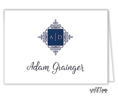 Elegant Medallion Folded Place Card