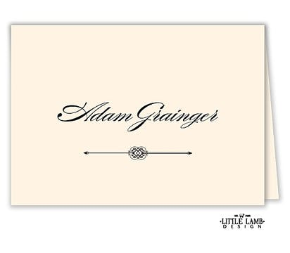 Calligraphy Folded Place Card