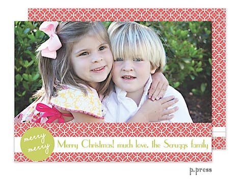 Merry Dot Holiday Flat Photo Card