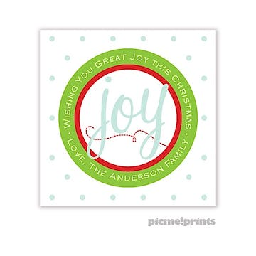 Great Joy Square Gift Sticker