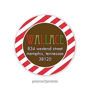 Cool Yule Round Address Sticker