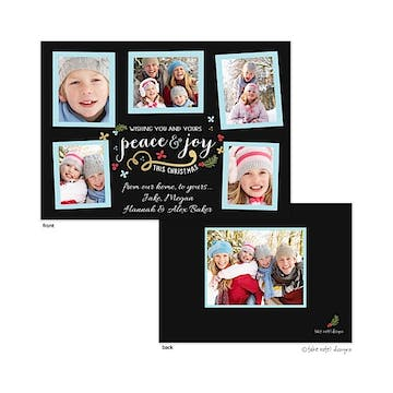 Peace and Joy This Christmas Flat Photo Holiday Card