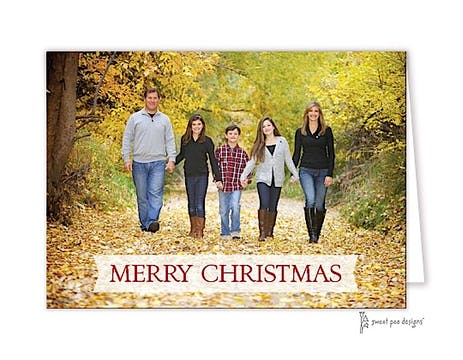 Banner On Full Bleed Folded Photo Folded Photo Holiday Card