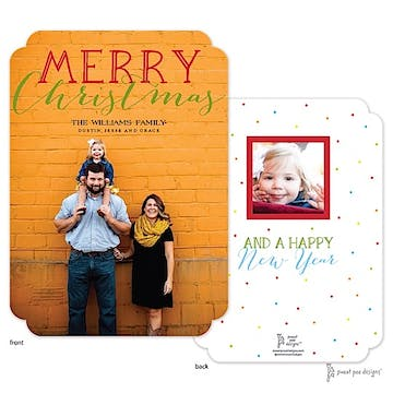 Big Merry Christmas Flat Photo Holiday Card