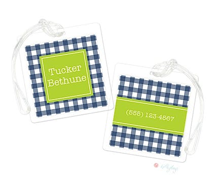 Buffalo Check Luggage Tag