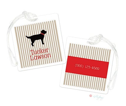Tucker Dog Luggage Tag