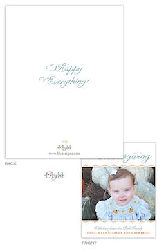Happy Thanksgiving Small Holiday Flat Photo Card