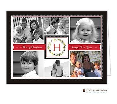Family Holiday Folded Photo Card