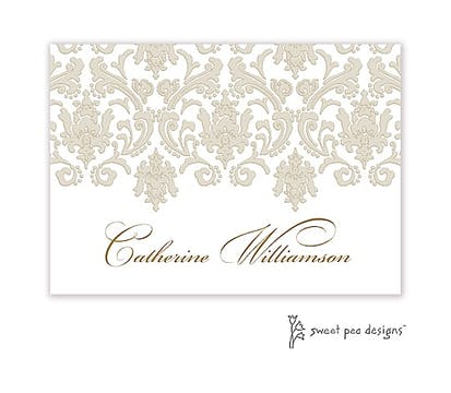 Damask Taupe & Gold Sticker