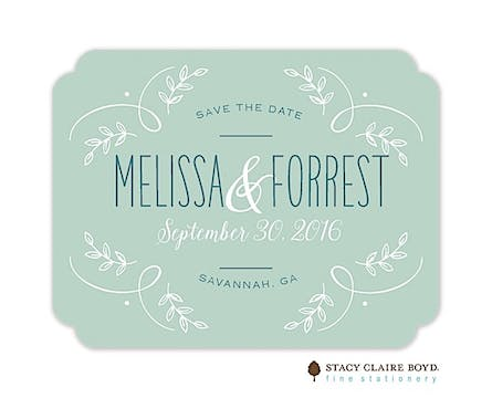Enchanting Day Save The Date Card