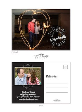 Sunburst Love Photo Save The Date Postcard